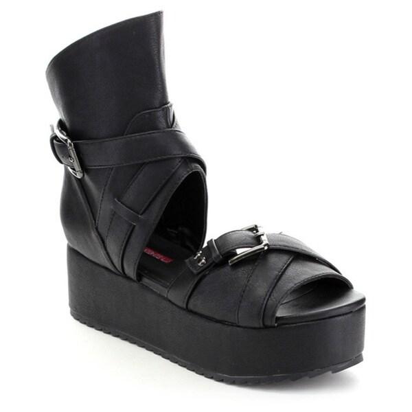 C-Label Mollini-25 Women's Ankle Strap Flatform Sandal