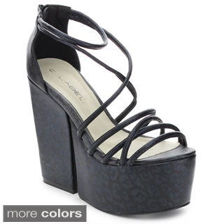C Label Sara-1 Women's Crossing Over Ankle Strap Sandals