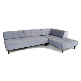 Newport Blue Sectional Chaise Sofa