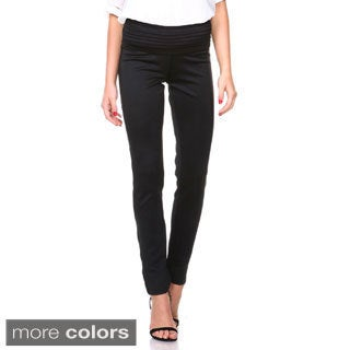 Stanzino Women's Stretch Waist Casual Slim Pants