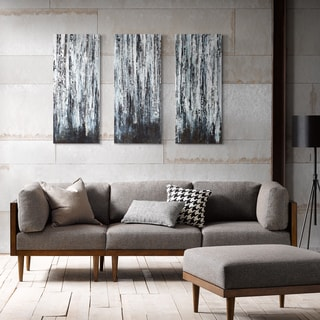 Madison Park Hutton 'Birch Forest' 3-piece Printed Canvas with Gel Coat