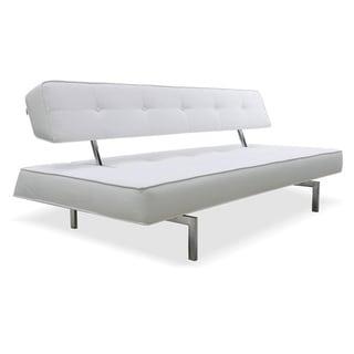 Divani Casa Coolidge Modern White Leatherette Sofa Bed