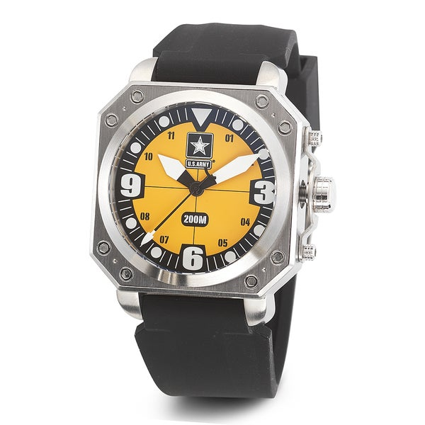 Wrist Armor Men's WA258 U.S. Army C4 Yellow Dial Watch