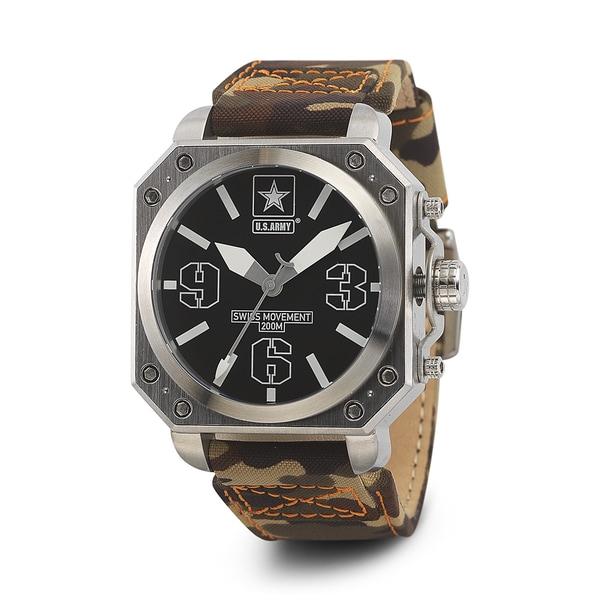 Wrist Armor Men's WA254 U.S. Army C4 Brown Camo Watch