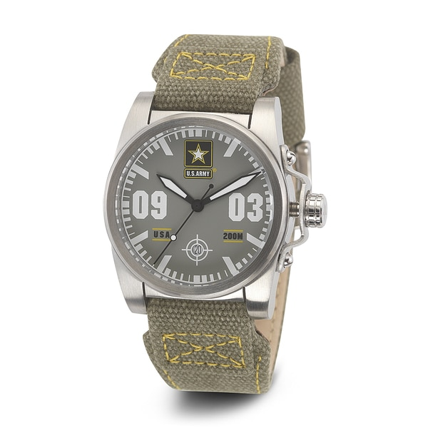 Wrist Armor Men's WA203 U.S. Army C1 Green Strap Watch