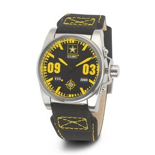 Wrist Armor Men's WA202 U.S. Army C1 Yellow Accent Watch