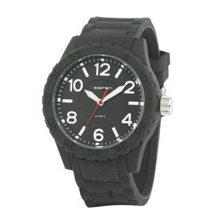 Regimen Men's RW1180 Classic Analog Black Rubber Strap Watch
