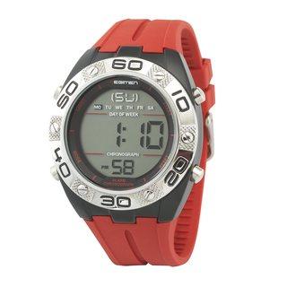 Regimen Men's RW1172 Digital Chronograph Red Rubber Strap Watch