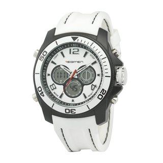 Regimen Men's RW1156 Analog-Digital Chronograph White Watch