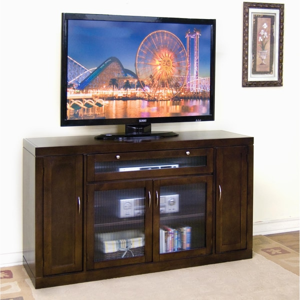 Counter Height Entertainment Center : Sunny Designs Espresso Counter Height TV Console - Overstock Shopping ...