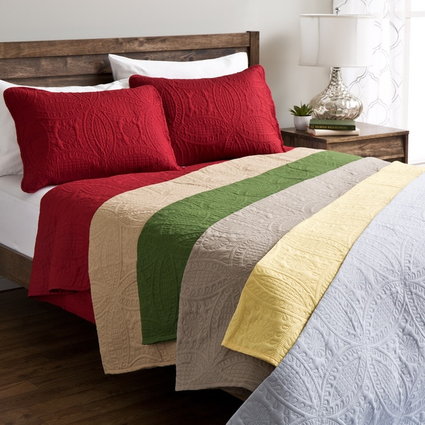 Fashion Solid Quilt Set (As Is Item)