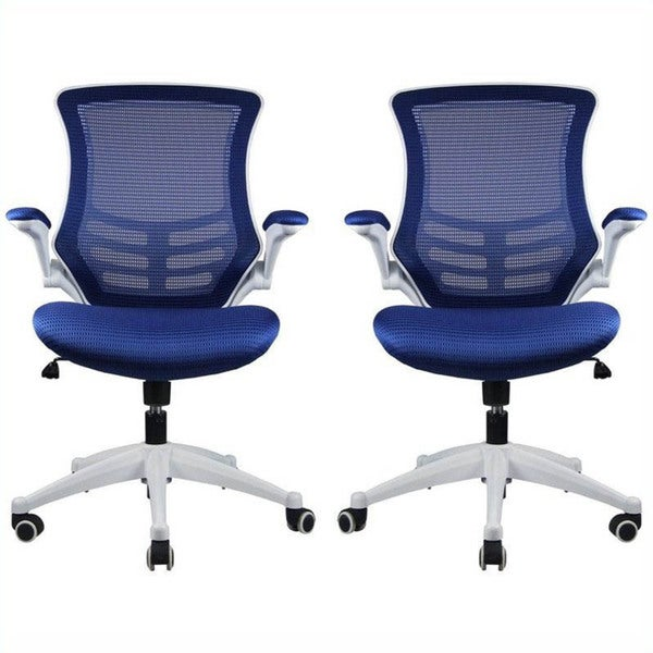 Manhattan Comfort Lenox Mesh Adjustable Office Chair Set Of 2