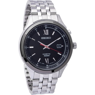 Seiko Men's Kinetic Stainless Steel Kinetic Powered Watch