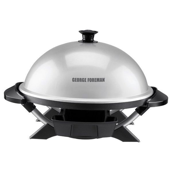 George Foreman GFO200S Silver Indoor Outdoor Grill