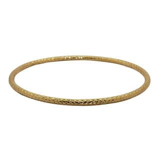 Gioelli 14k Yellow Gold Diamond-cut Bangle