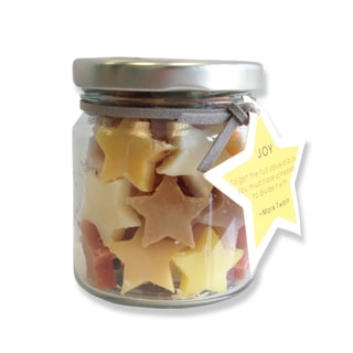 Mini Handmade Assorted Scents Star Soap in a Jar