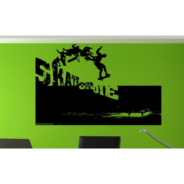 Green Skateboarding Skate Or Die Sticker Vinyl Wall Art