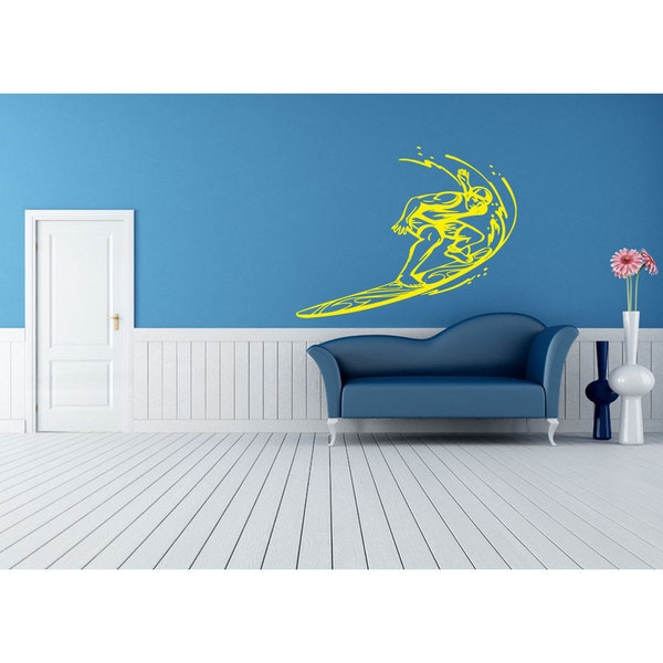 Surfer Sticker Vinyl Wall Art