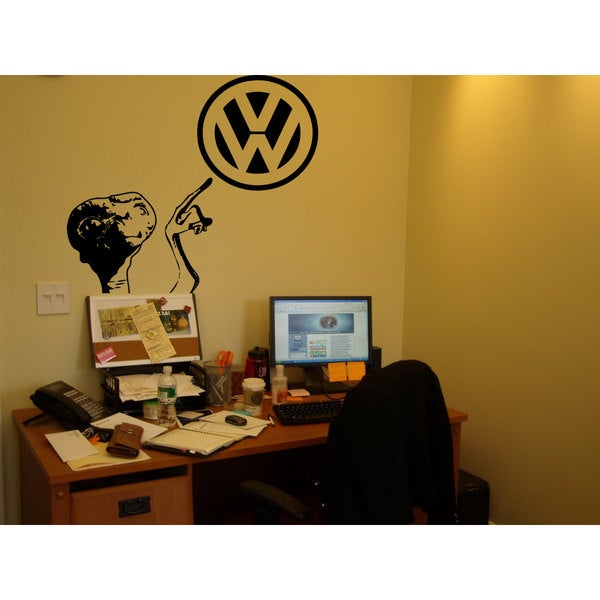 VW E.T. Black Sticker Vinyl Wall Art