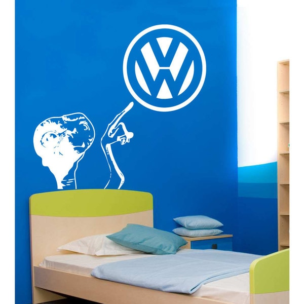 VW E.T. Sticker Vinyl Wall Art