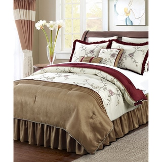 BNF Home Terrace Embroidered 12-piece Comforter Set