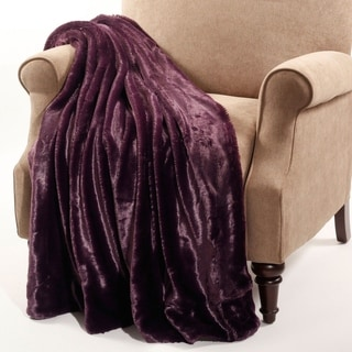 BNF Home Plain Faux Fur Throw
