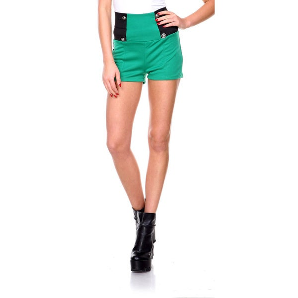 Stanzino Women's Banded High Waist Mini Shorts