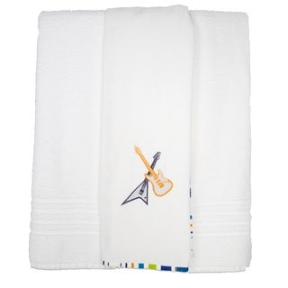Pam Grace Creations Rockstar Cotton Bath Towels (Set of 2)