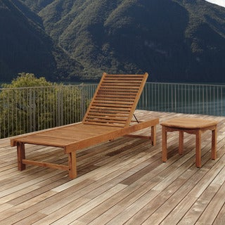 Amazonia Teak San Francisco 2-piece Patio Lounger Set