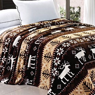 BNF Home Printed Christmas Flannel Fleece Blanket