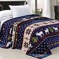 BNF Home Printed Christmas Flannel Fleece Blanket
