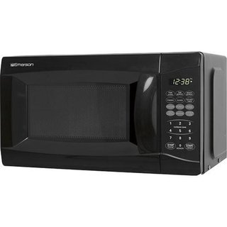 Emerson Stainless Steel and Black 0.7 cu. ft. 700-watt Microwave (Refurbished)