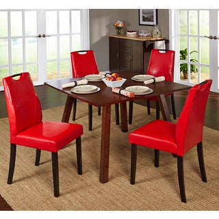 Simple Living 5-piece Ruben Dining Set with Red Chairs