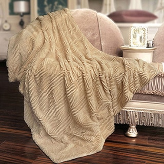 BNF Home Herringbone Faux Fur Throw