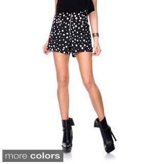 Stanzino Women's High Waist Polka Dot Casual Shorts