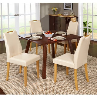 Simple Living 5-piece Ruben Dining Set with Beige Chairs