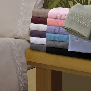 Wrinkle Resistant Embroidered Regal Sheet Set With Gift Box
