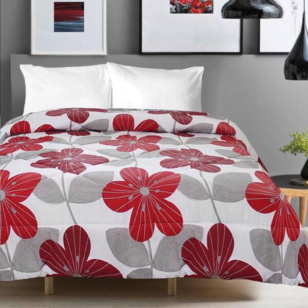 Studio 707 Floral Printed Microfiber Comforter