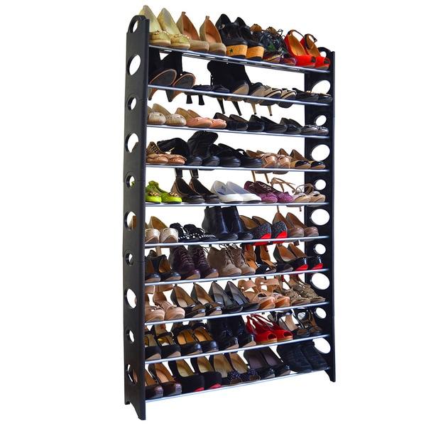 Studio 707 50-pair Shoe Rack - 17194479 - Overstock.com Shopping - Great Deals on Closet Storage