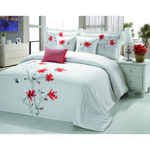 Sandra Venditti Alice 6 piece Embroidered Comforter Set