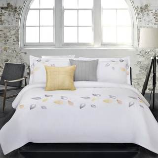 Lauren Taylor Sycamore 5-piece Embroidered Microfiber Comforter Set
