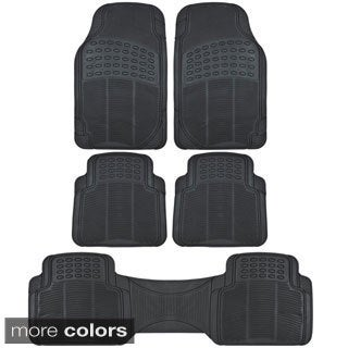 BDK All Weather Universal Fit/ Trimmable 3-row Car Rubber Floor Mats (5 Pieces)