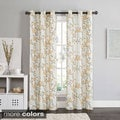 Victoria Classics Rebecca Floral 84-inch Grommet Top Room Darkening Curtain Panel Pair