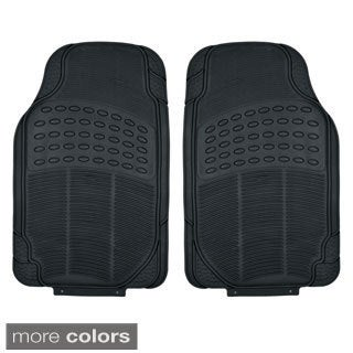 BDK Heavy Duty Universal Fit/ Trimmable Car Floor Mats (2 Pieces)