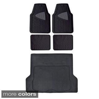Motor Trend BPA Free Odorless Car Floor Mats with Cargo Liner (5 Pieces)