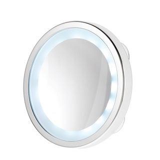 Danielle L.E.D. Chrome Suction Cup Mirror