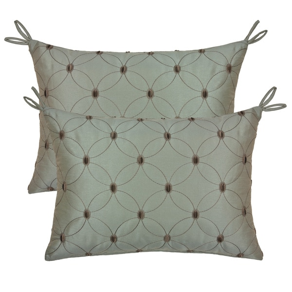 Etienne Embroidered Throw Pillows (Set of 2)