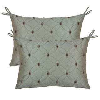 Rose Tree Etienne Embroidered Throw Pillows (Set of 2)
