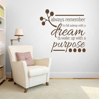 Wake up with a Purpose' Bedroom Wall Decal (4 x 3'9)