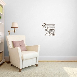 Wake up with a Purpose' Bedroom Wall Decal (1'6 x 1'5)